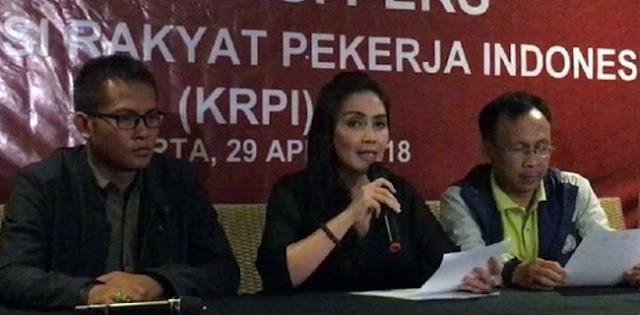 Di Hari Buruh KRPI Sampaikan Panca Maklumat Ke Jokowi