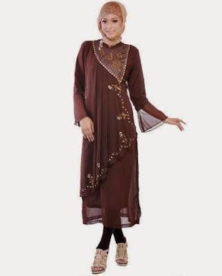 Model Baju Gamis Muslim Modis dan Cantik Terbaru