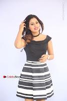 Actress Mi Rathod Pos Black Short Dress at Howrah Bridge Movie Press Meet  0023.JPG