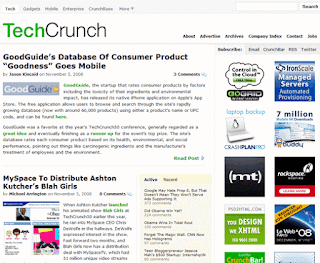 Techcrunch, most popular blog