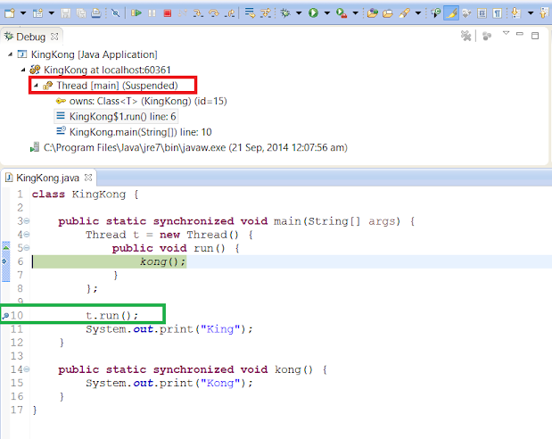 How to debug Multi-threading Programs in Eclipse