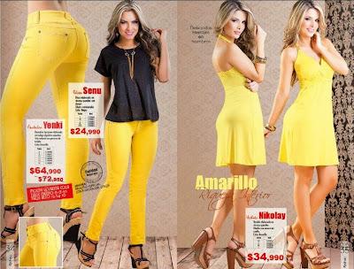 Pantalon y vestido amarillo de napoli C-17-1-15