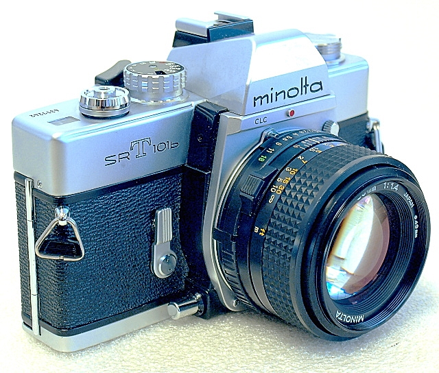 Minolta SRT-101b 35mm SLR Film Camera