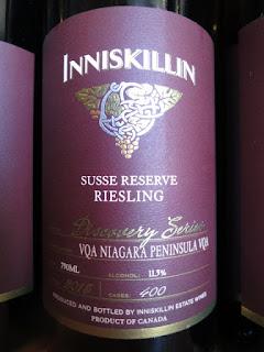 Inniskillin Discovery Series Susse Reserve Riesling 2015 - VQA Niagara Peninsula, Ontario, Canada (88 pts)