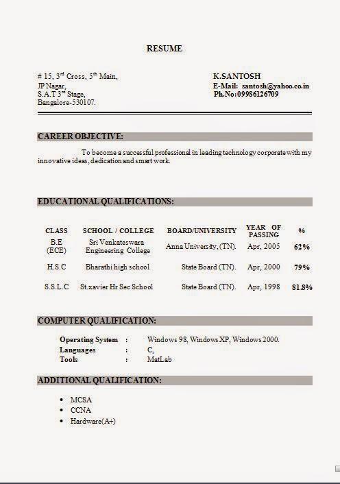 resume in word document