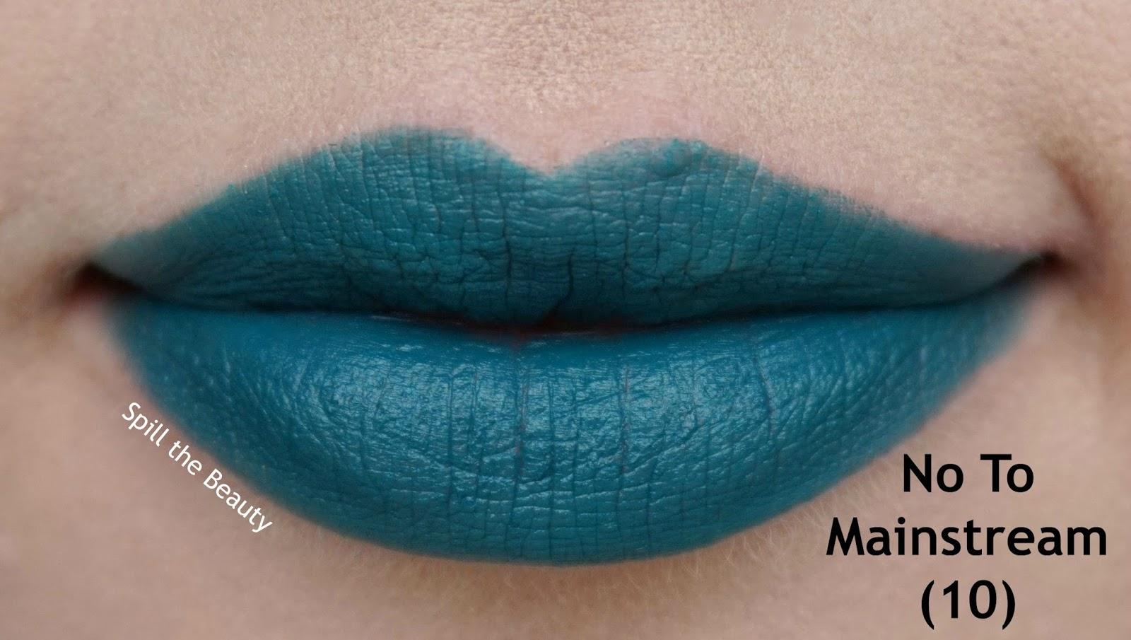 essence matt matt matt vibrant shock lipstick review swatches 10 no to mainstream - lips