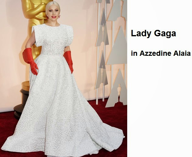 Lady%2BGaga%2Bin%2BAzzedine%2BAlaia - Look Óscares 2015