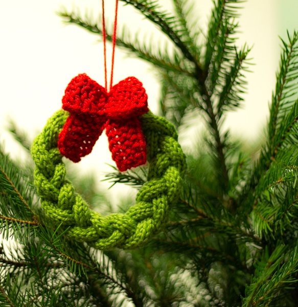 Free Christmas Wreath Ornament
