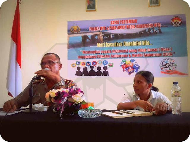 Polres, Diskominfo dan Awak Media MTB Siap Tangkal Hoax Jelang Pilkada