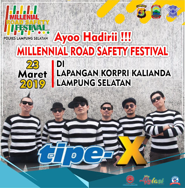 Millenial Road Safety Festival 2019, Polres Lamsel Undang Band tipe-X
