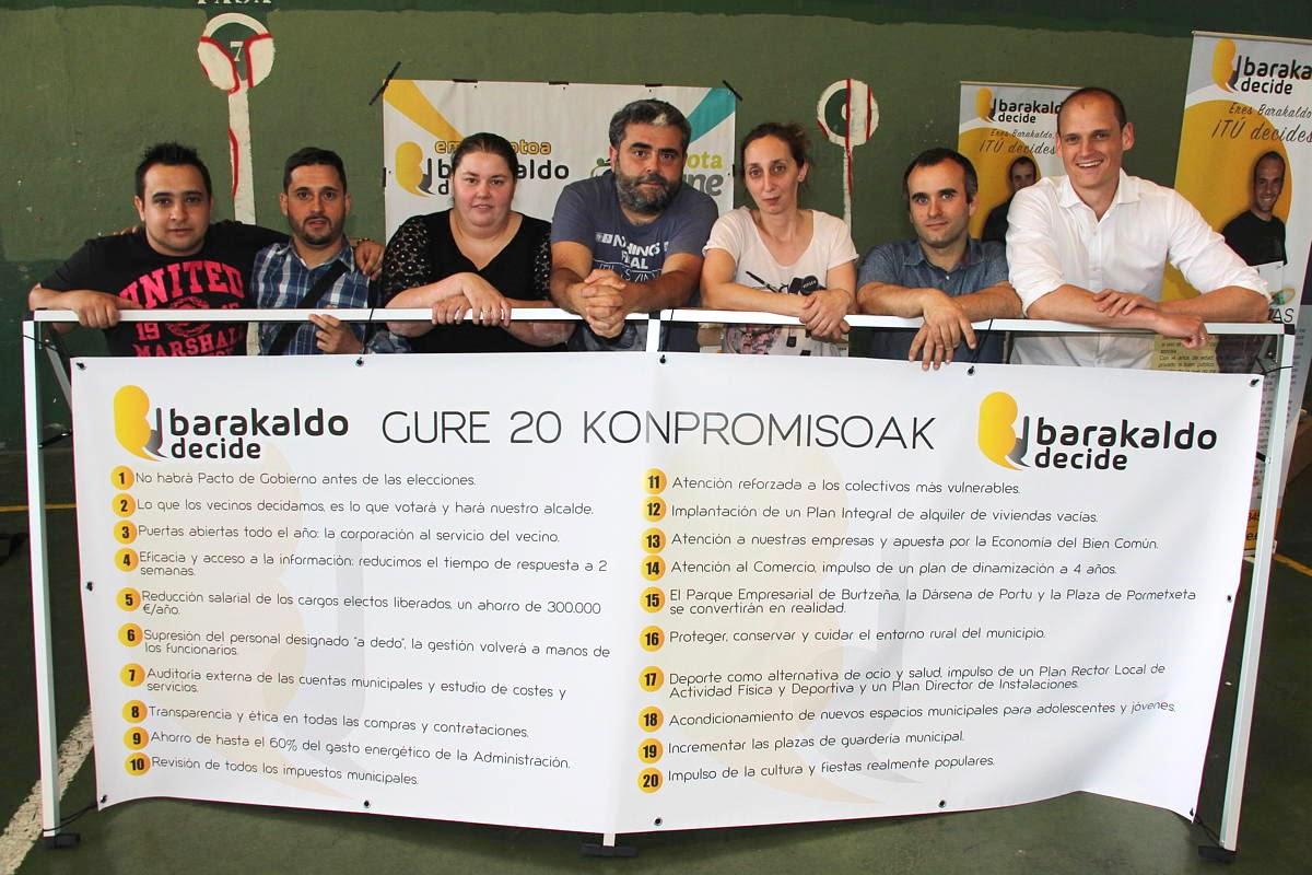 barakaldo Decide durante la campaña de las elecciones municipales de 2015