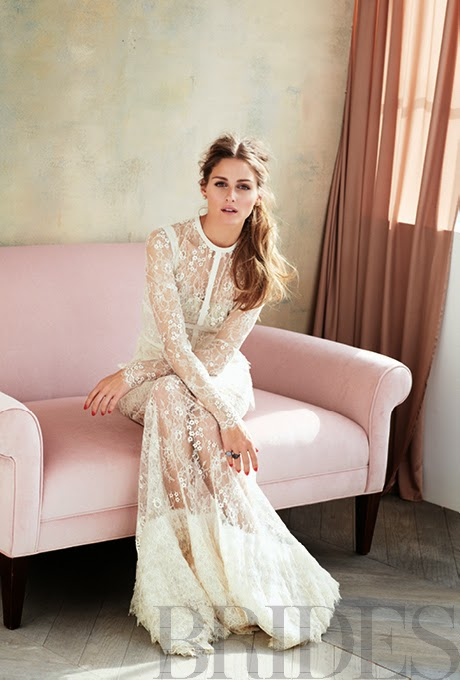 editorial fashion olivia palermo for brides magazine june 2014 cool chic style fashion. Black Bedroom Furniture Sets. Home Design Ideas