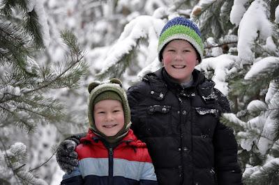 Дети в зимнюю погоду
