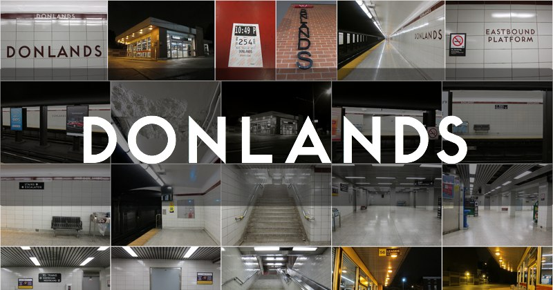 Photo gallery for the Donlands TTC subway station