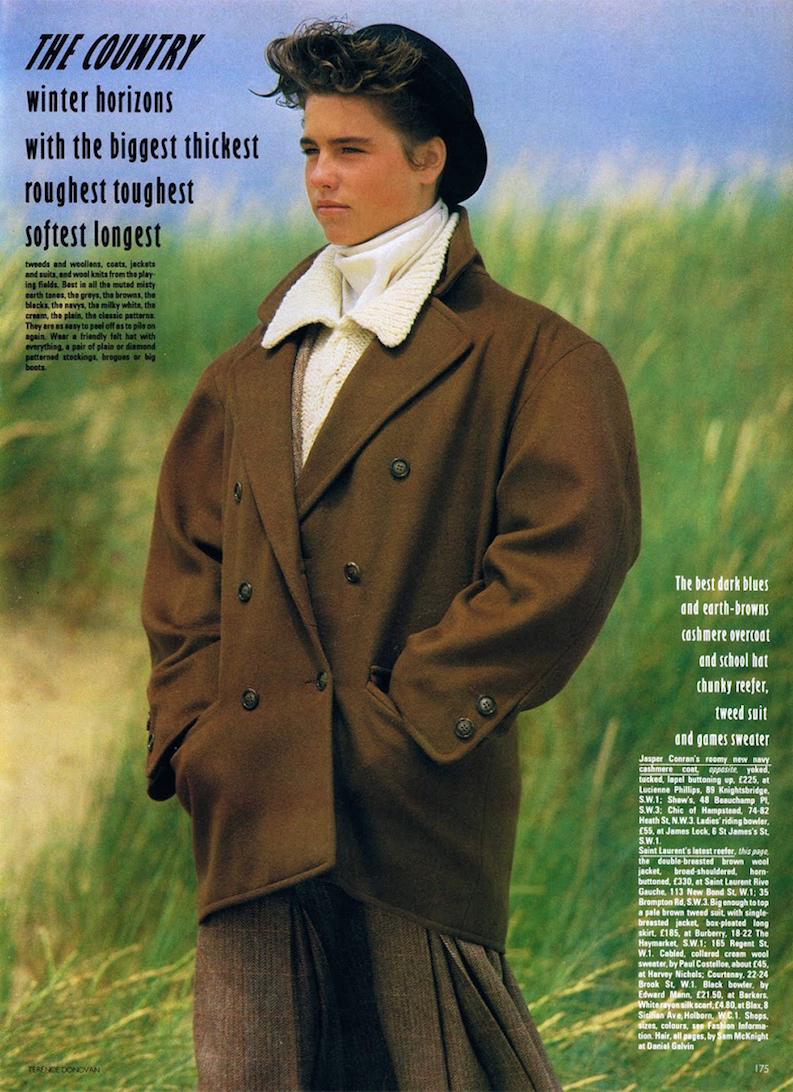 Yves Saint Laurent in Vogue UK November 1982 via www.fashionedbylove.co.uk
