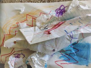 Messy sensory paper