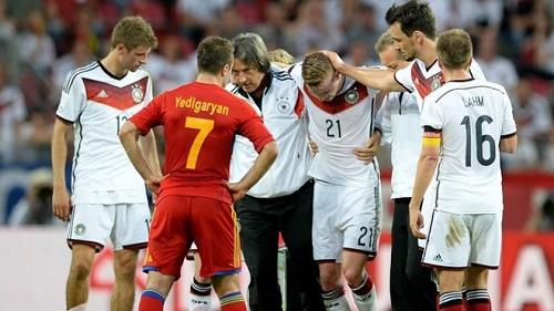 Marco Reus bị chấn thương tại trận giao hữu với Armenia