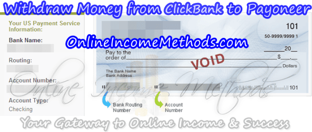 Transfer Money from ClickBank To Payoneer - ClickBank To US Bank Deposit