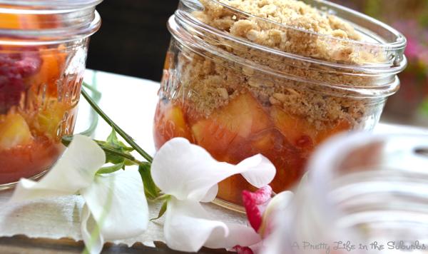Peach Raspberry Crisps