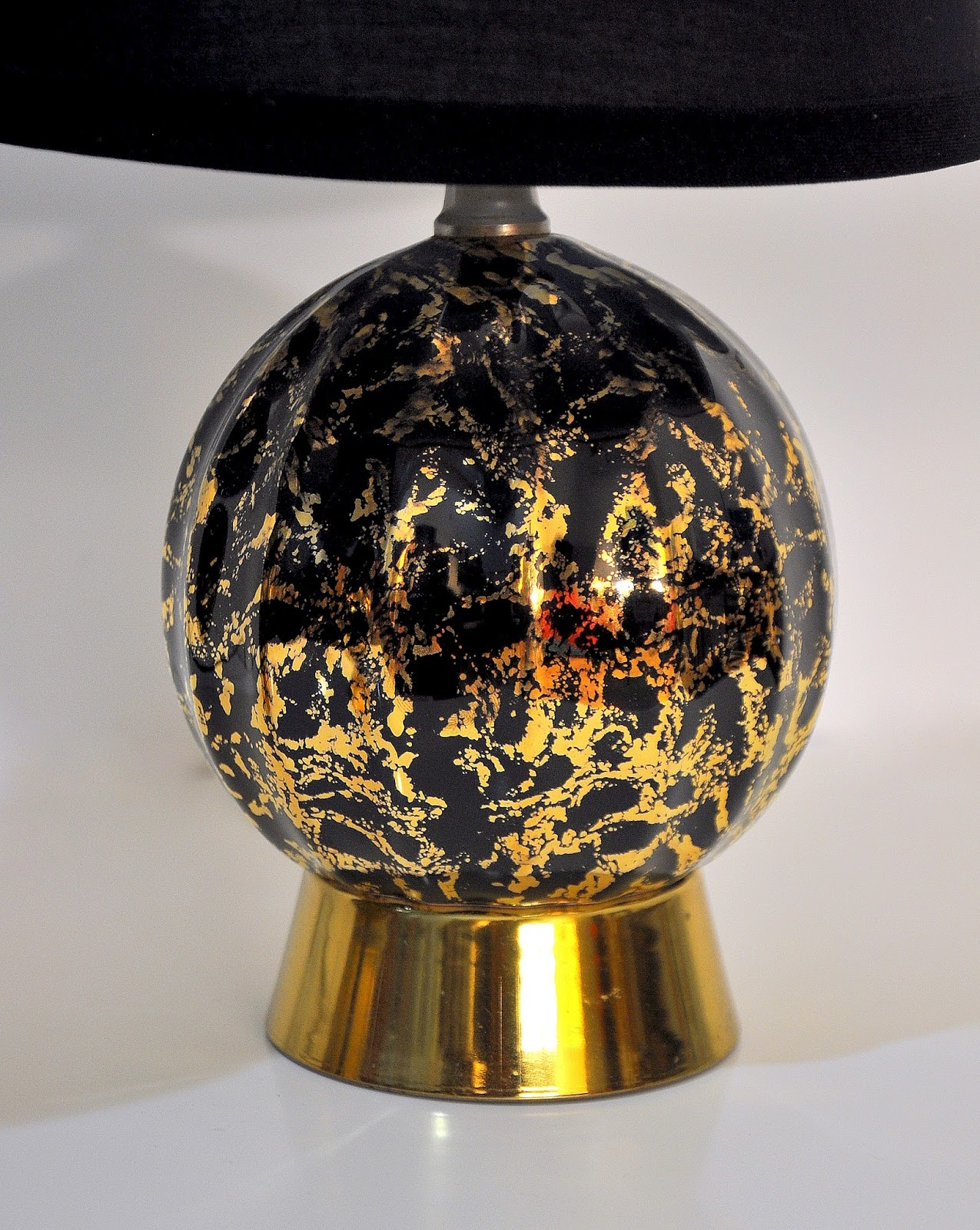 Black Mid Century Table Lamp