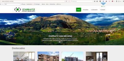 Izarraitz Inmobiliaren webgunea