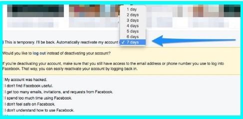 how do you deactivate facebook accounts