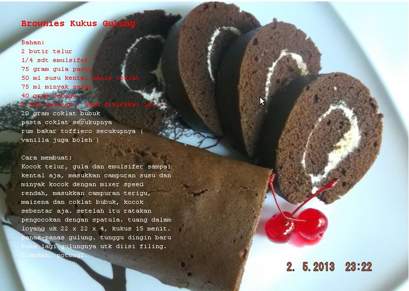 Online Cake Shop: Brownies Kukus Gulung Coklat