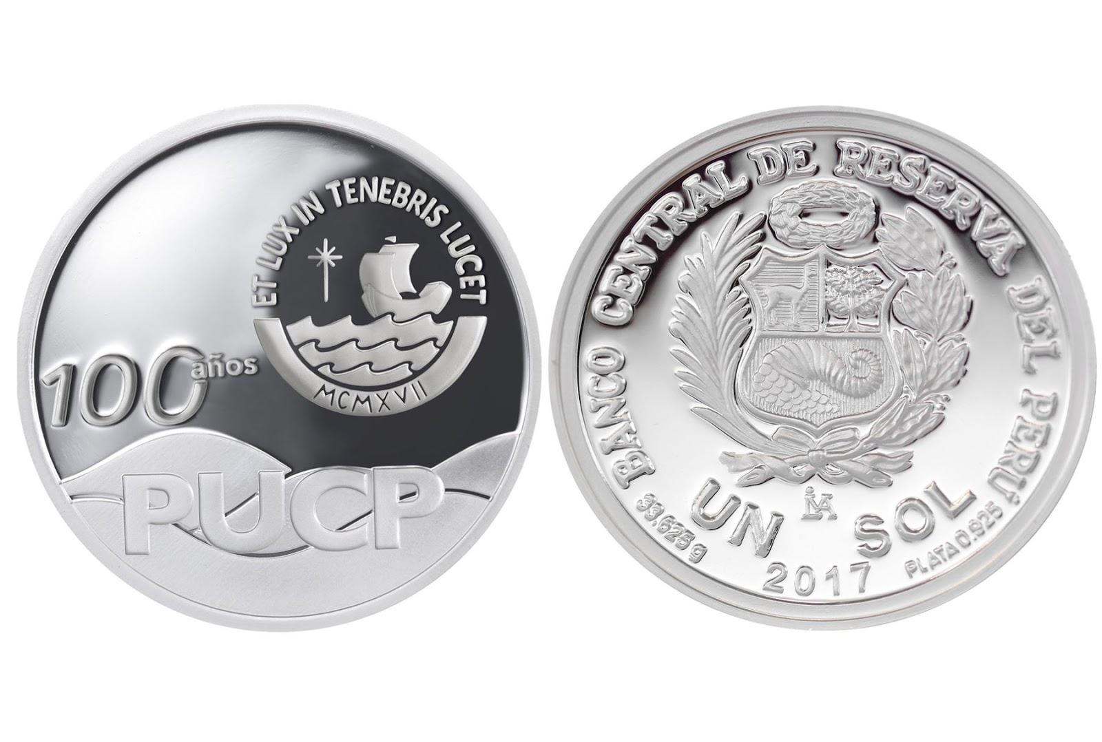 BCR pone en circulación monedas de plata alusivas a 100 años de la Pontificia Universidad Católica del Perú - PUCP