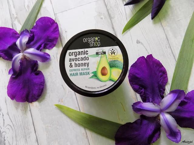 Maska do włosów organiczne avocado i miód, Organic Shop