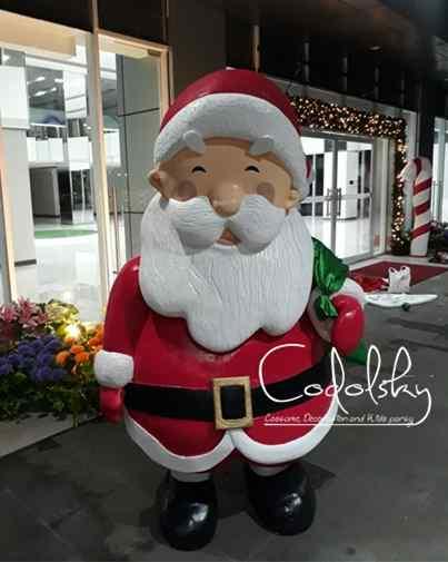 Custom Patung santa claus styrofoam dekorasi Natal (Christmas) & tahun baru / Christmas