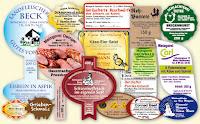 Etiketten für Wurstdosen