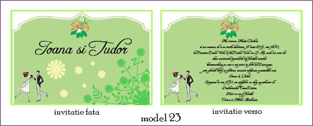 Invitatii Nunta Carte Postala
