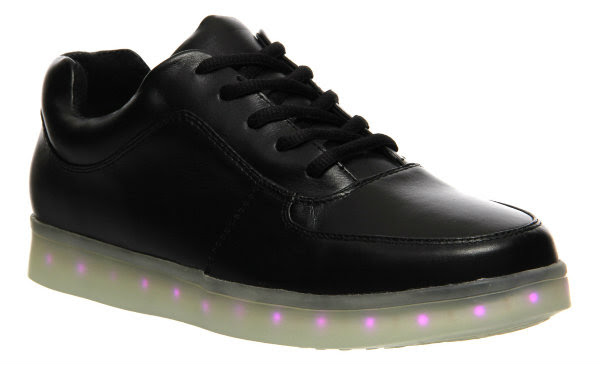Irregular Choice state of flux black with pink lights