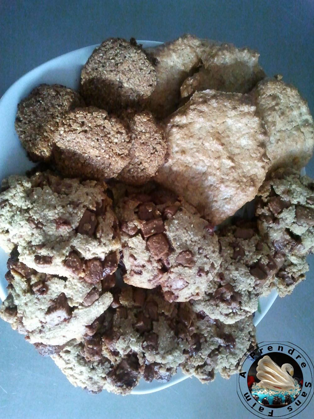 Cookies au son et pépites de chocolat