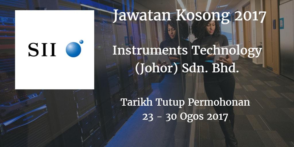 Jawatan Kosong Instruments Technology (Johor) Sdn. Bhd. 23 - 30 Ogos 2017