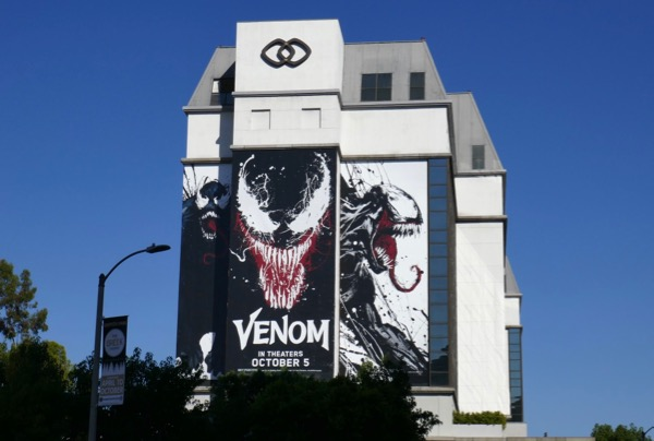 Giant Venom film billboard