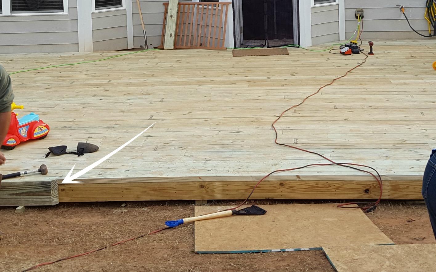 Duo ventures diy floating ground level deck for 4 8 meter decking boards