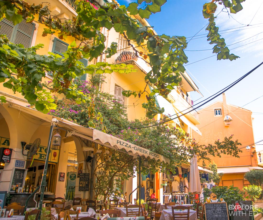 Restaurants and cafes in Corfu Town