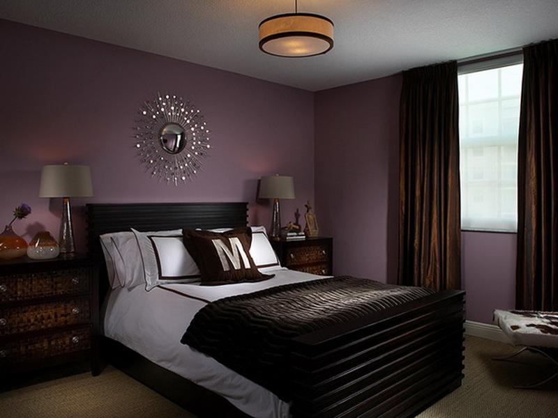 how to decorate a bedroom with a dark plum color