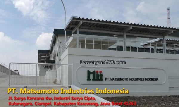 Lowongan Kerja PT. Matsumoto Industries Indonesia