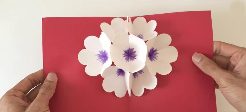 Hadiah Untuk Hari Ibu Kad Bunga Diy