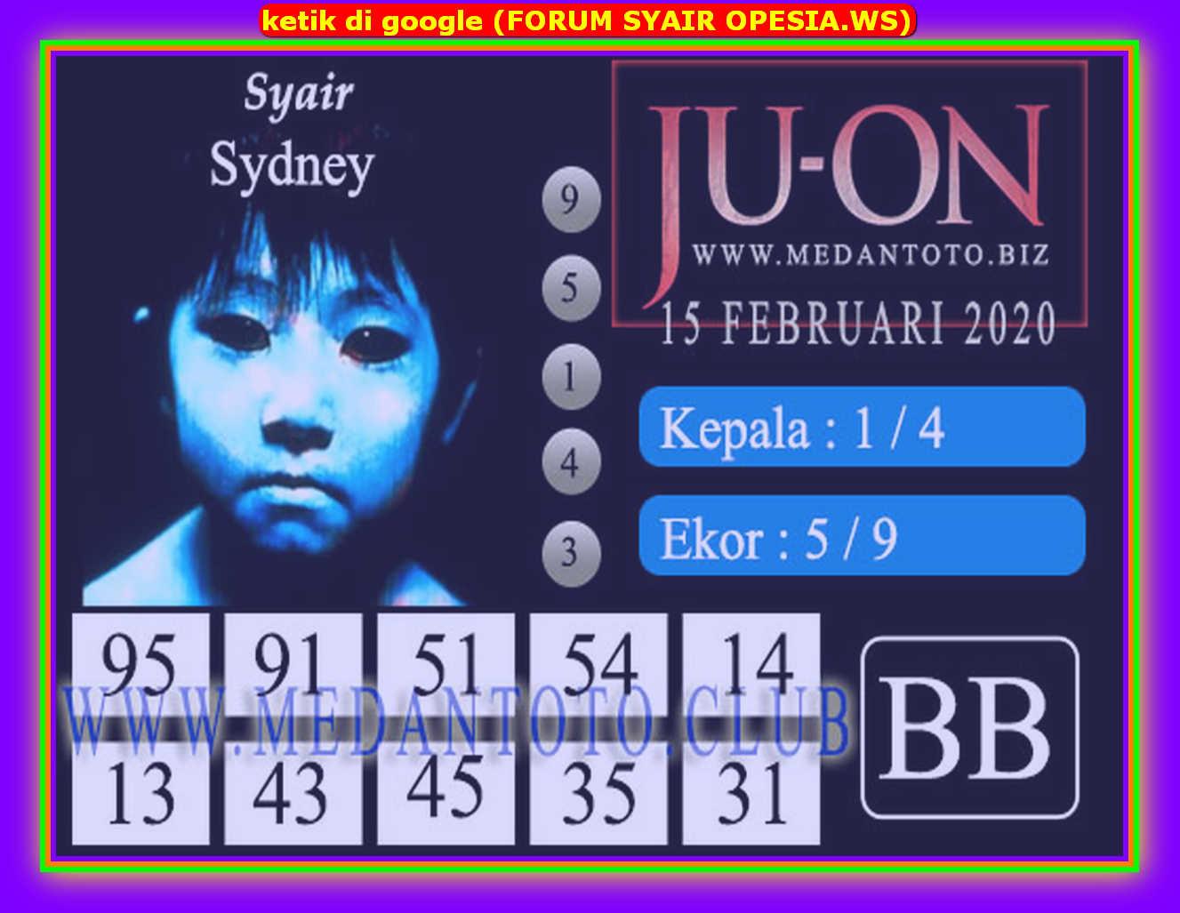 Kode syair Sydney Sabtu 15 Februari 2020 65