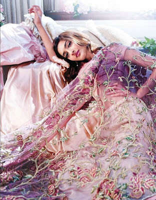 Indian Actress And Model Sonam Kapoor In Floral Dress.