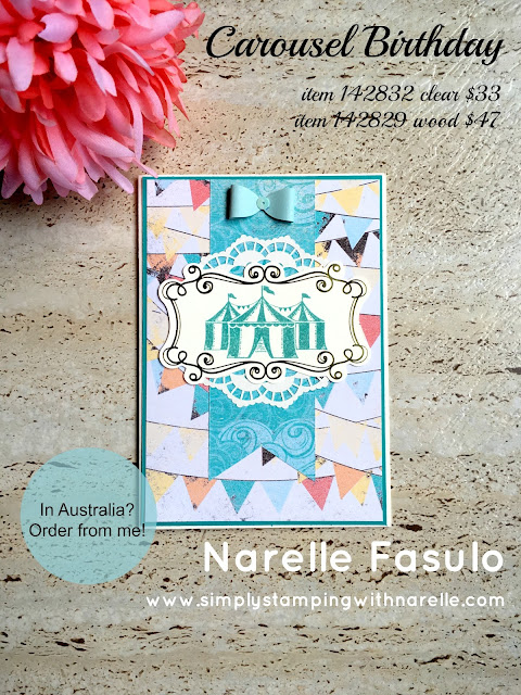 Carousel Birthday - Simply Stamping with Narelle - available here - http://bit.ly/2lttqGj