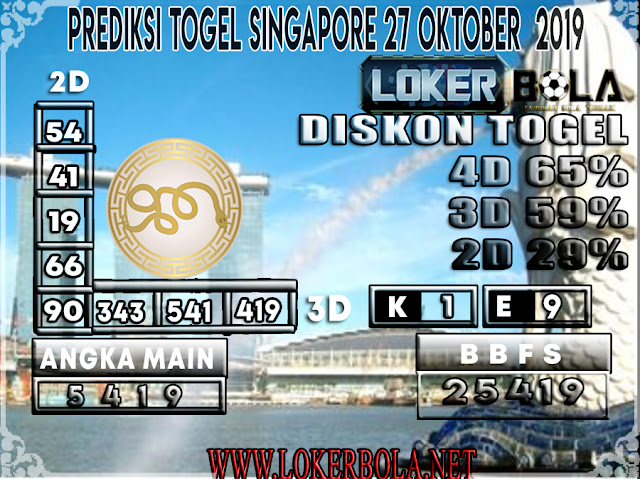 PREDIKSI TOGEL SINGAPORE LOKERBOLA  27 OKTOBER 2019