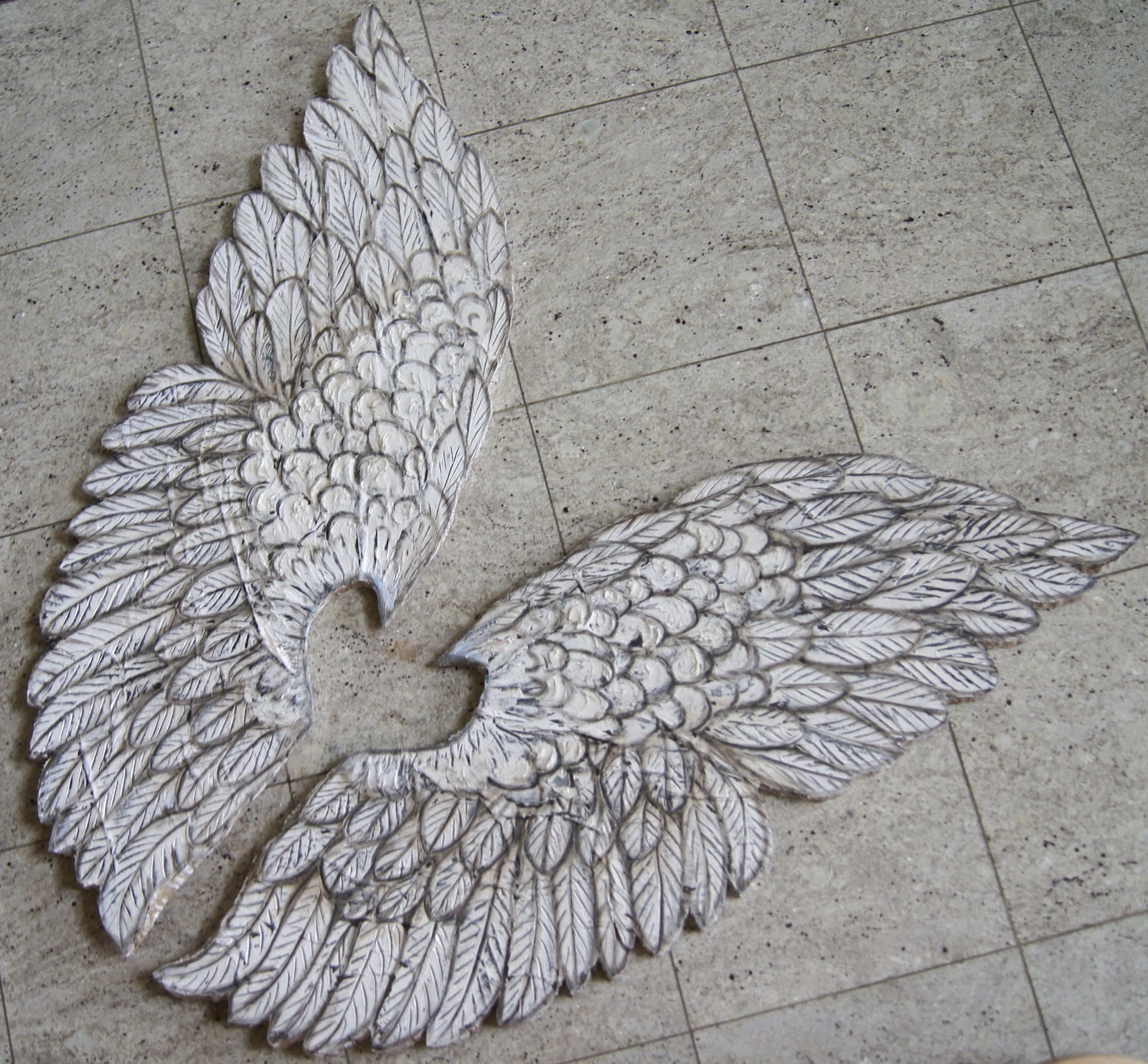 Artistic Environments Large Angel Wings Hand Crafted