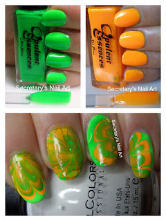 Neon Nail Art Mani