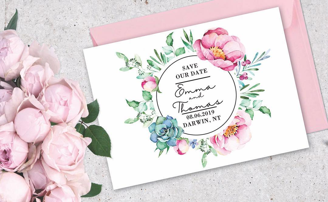 CUSTOM WEDDING STATIONERY DARWIN