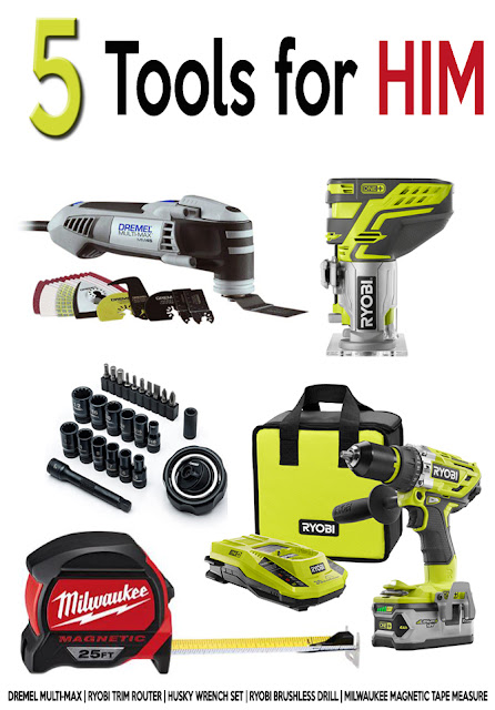 Five tools for the man of your life - Ryobi, milwaukee, husky, Dremel