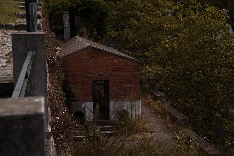 Abandoned brick house in Porto, Portugal